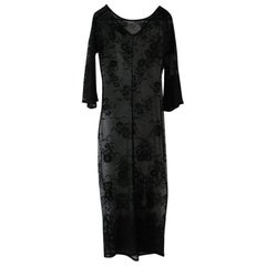 DOLCE & GABBANA Under Dress in Transparent Black Lace effect Size 38