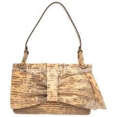 Valentino Women luxury Hand bag with bow beige/black 7WB00821-ATEJ03-N17