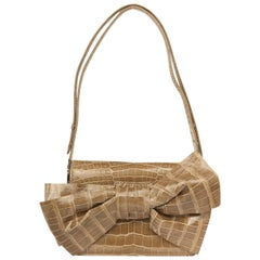 Valentino Women luxury Hand bag with bow taupe 6WB00620-ACOD03-T47