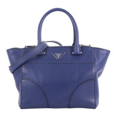 Prada Twin Pocket Tote Stitched City Calfskin Small