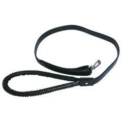 GUCCI Dog Leash in Black Leather