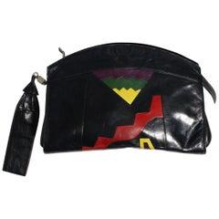Bruno Magli Bologna Vintage Pop Art Handbag 1980s Italy