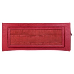 Escada Python embossed leather Clutch ESCA-06
