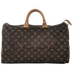 Louis Vuitton Monogram Speedy 40 Satchel Top Handle Handbag