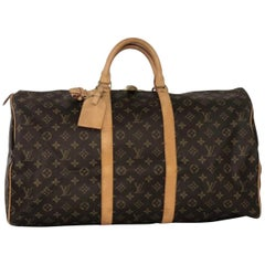 Louis Vuitton Monogram Keepall 55 Travel Top Handle Bag