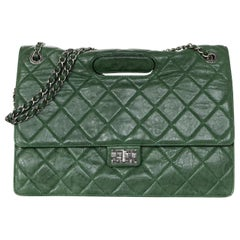 Chanel Green Calf Leather Quilted Paris-Byzance Take Away 2.55 Reissue Flap Bag