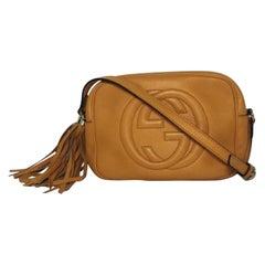 Gucci Pebbled Leather Soho Disco in Orange Crossbody Shoulder Handbag