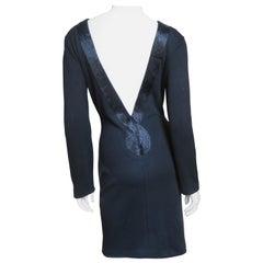 Beaded Trim Bodycon Backless Dress