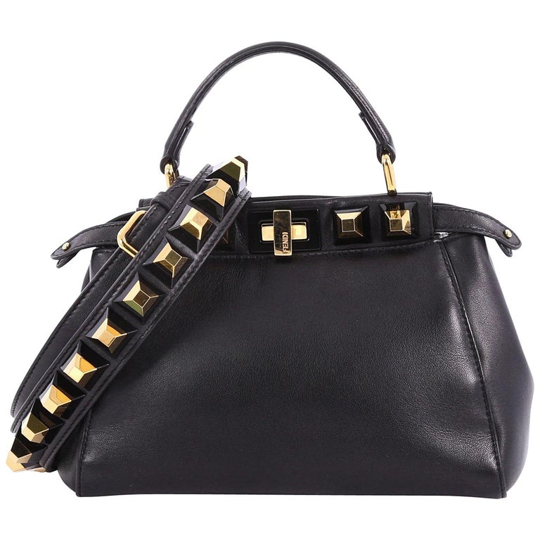 0537a8cce160 Fendi Peekaboo Handbag Leather with Studded Detail Mini at 1stdibs