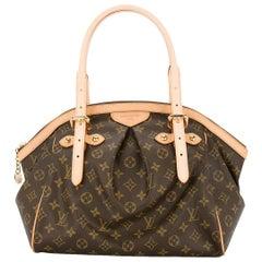 Louis Vuitton NEW Monogram Brown Evening Carryall Top Handle Satchel Tote Bag
