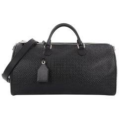 Loewe Repeat Duffle Bag Anagram Embossed Calfskin Large