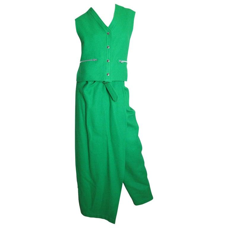 Jean Charles de Castelbajac Vest and Pants Set  For Sale
