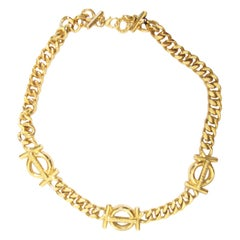 Guy Laroche Chain Necklace with Monogram Links