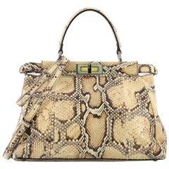 Fendi Peekaboo Handbag Python Regular