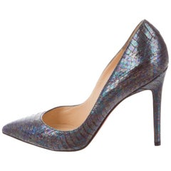 Christian Louboutin NEW MultiColor Iridescent Snake Evening Heels Pumps in Box