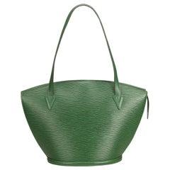 Louis Vuitton Green Epi Saint Jacques Long Strap GM