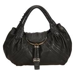 Fendi Black Leather Spy