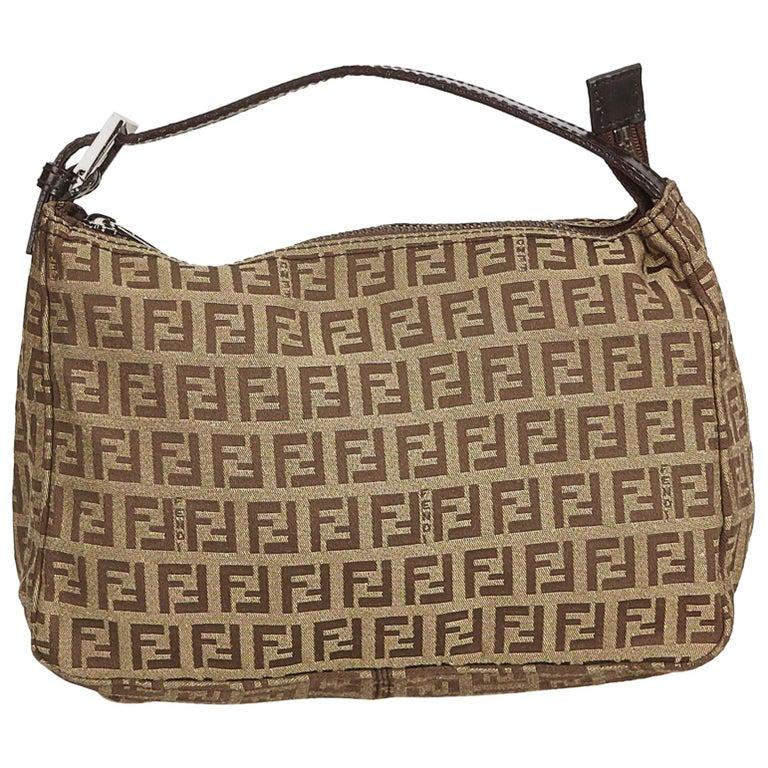 c2cb96414f92 Fendi Brown x Beige Zucchino Canvas Handbag at 1stdibs