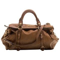 Miu Miu Tan Leather Belt Buckle Tote Bag GHW at 1stdibs 63df0a586288b