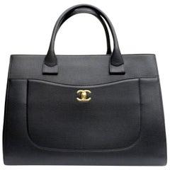 2017 Chanel Black Leather Neo Executive Bag