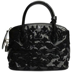 2012 Louis Vuitton Black Patent Leather Lockit Limeted Edition Bag