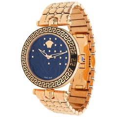 Versace Quilted Dial Women Watch Vanitas pink gold VK7250015