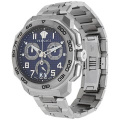 Versace Men Watch DYLOS Chronograph silver VQC090016