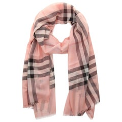 Burberry Women Scarf ash rose GAUZE GIANT CHECK 40013631