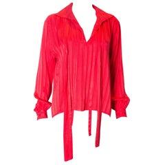 VIntage Yves Saint Laurent Rive Gauche Silk Blouse