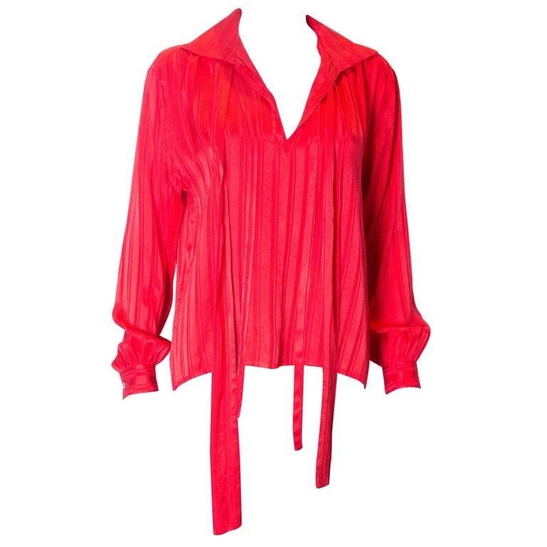e2bce9908f1d4 VIntage Yves Saint Laurent Rive Gauche Silk Blouse For Sale at 1stdibs