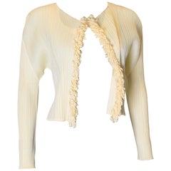 Miyake Pleats Please Yellow Cardigan/ Jacket