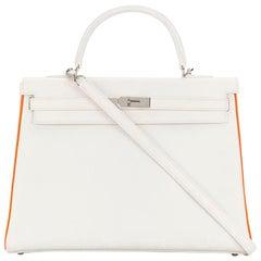 Hermès Limited Edition Bi-colour 35cm Kelly Bag