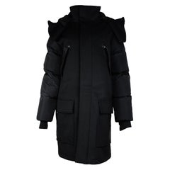 Alexander Wang x H&M 2014 Black Puffer Coat w/ Removable Lining Sz M