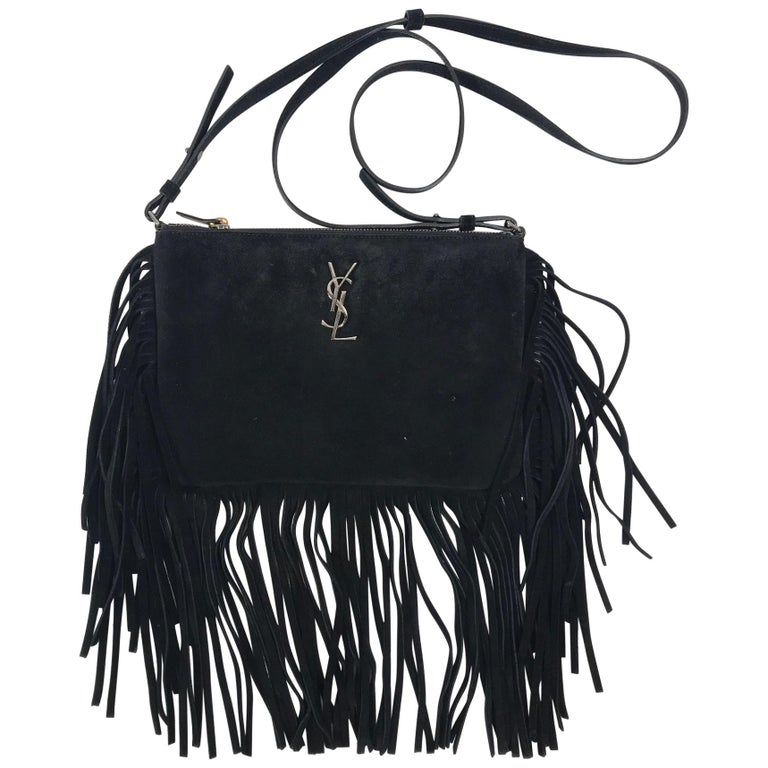 5af5e46d5ad Yves Saint Laurent Suede Crossbody Bag For Sale at 1stdibs