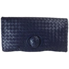 Bottega Veneta Intrecciato Turn-Lock Clutch