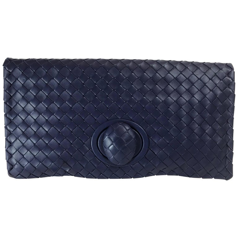 bf6c99b8501fe Bottega Veneta Intrecciato Turn-Lock Clutch at 1stdibs