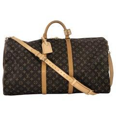 Louis Vuitton Monogram Keepall Bandoliere 60 Travel Bag