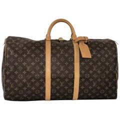 Louis Vuitton Monogram Keepall 55 Travel Top Handle Bag