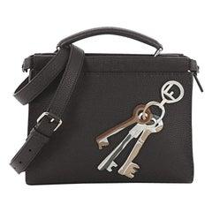 Fendi Selleria Peekaboo Fit Bag Leather with Applique Mini