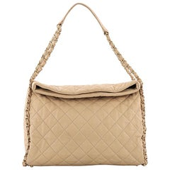 Chanel Chain Me Hobo Quilted Leather Large