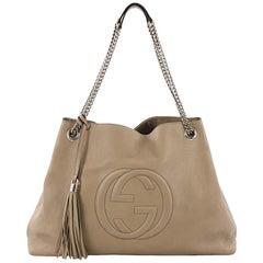 Gucci Soho Chain Strap Shoulder Bag Leather Large