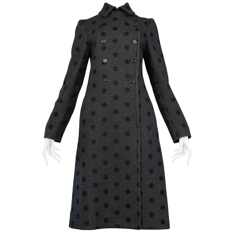 00a7dfb24771 Vintage Miu Miu 1997 Wool and Velvet Dot Coat at 1stdibs