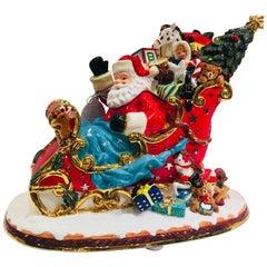 "Christopher Radko ""Sumptuous Sleighful"" Christmas Cookie Jar 20th Anniversary"