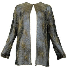 Vintage Halston 1980 Beaded Firework Jacket