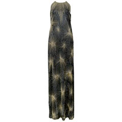 Vintage Halston 1980 Beaded Firework Gown