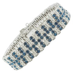 Sapphire and clear paste bracelet, Ciner, USA, 1960s