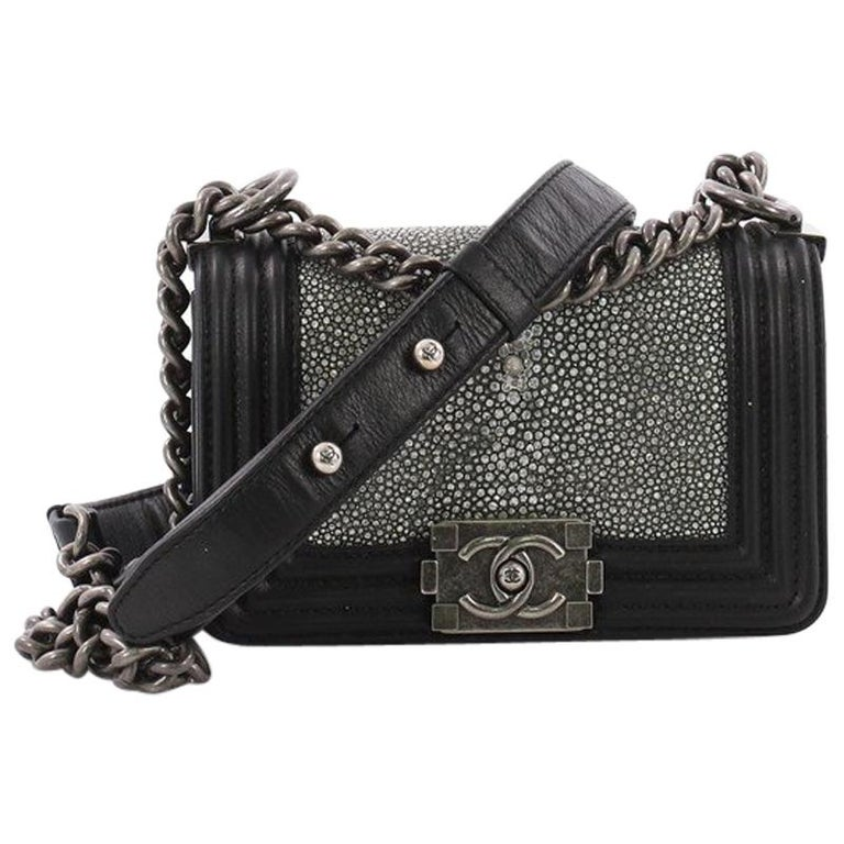 1ac9ad5b0954 Chanel Boy Flap Bag Stingray Mini at 1stdibs