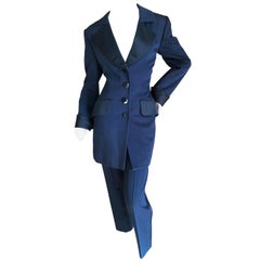 Yves Saint Laurent Rive Guache Vintage 70's Navy and Black Le Smoking Tuxedo
