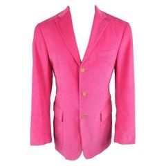 RALPH LAUREN 40 Fuchsia Pink Corduroy Notch Lapel Sport Coat
