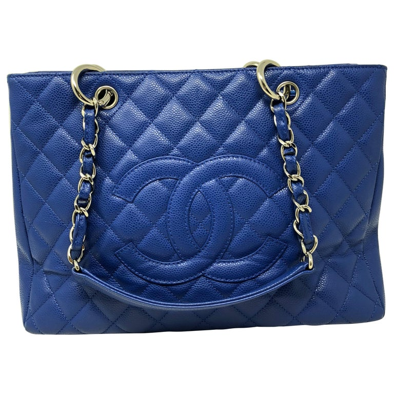 0406c7970fd Chanel Blue Grand Shopper Tote at 1stdibs